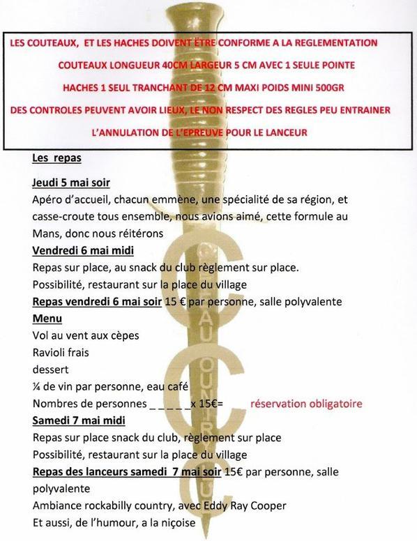 Championnat de France de lancer de couteaux et de haches TANNERON 2016