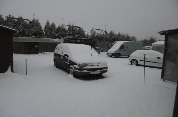 sa neige sur la Normandie  09/02/2018