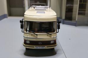 camping-cars Mercedes l'hymermobil type 650 à chàssis poids kourd de 1985 modèle ixo au 1/43(édition hachette numéro 4 passion camping-cars).