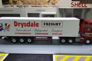 tracteur scania r 470ch 6x2 avec semi-remorque des trp drysdale freight des chez eligor au 1/43.(modèle anglais)