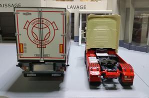 tracteur scania streamline topline r 560ch v8 semi-remorque frigo chereau des trp freret & fils de chez eligor au 1/43.