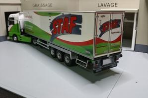 tracteur man tgx euro6 xxl avec semi-remorque frigo chereau trp sfaf de chez eligor au 1/43.