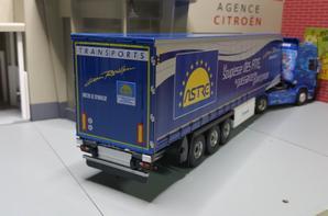 tracteur scania r 560 v8 semi-remorque astre des trs jean rouillon modéle eligor au 1/43.
