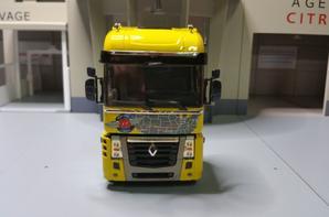 tracteur renault magnum 2008 route 66 jaune modèle eligor au 1/43 (club 2018).
