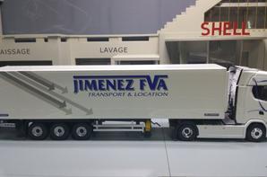 tracteur scania s 500 semi-remorque frigo lamberet des trs jimenez modèle eligor au 1/43.