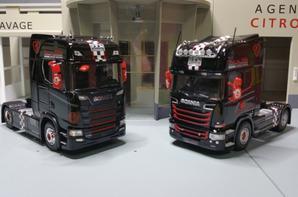 tracteur scania r730 v8 brm et scania s730 v8 brm modèle eligor au 1/43e