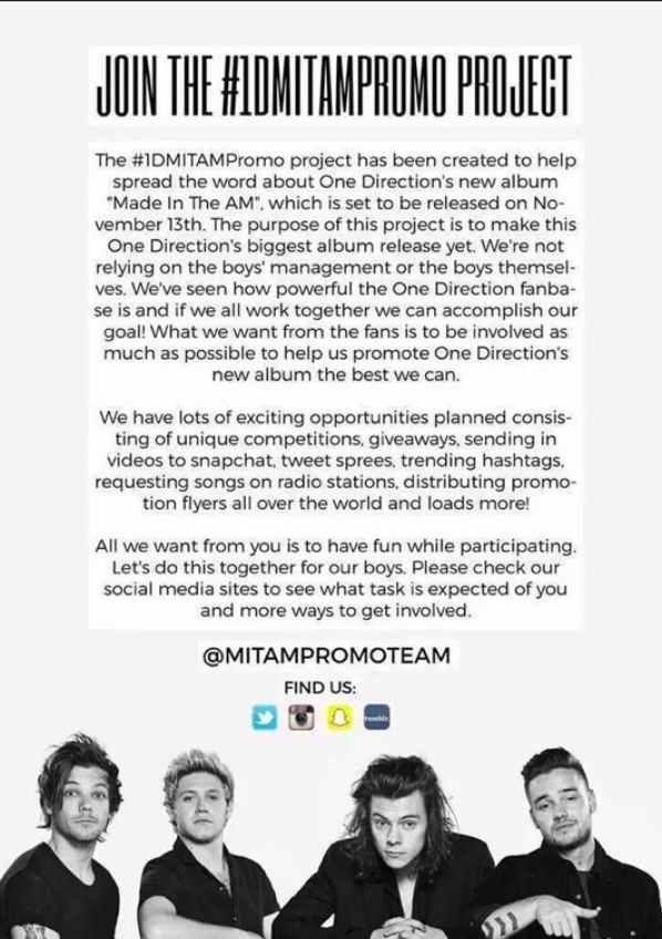 Rejoins-nous  ! Pour que Made in the AM  soit #1