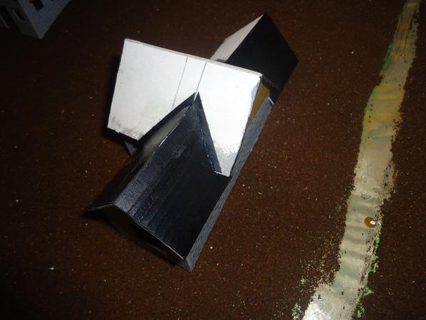 Pose de la toiture de l'etable