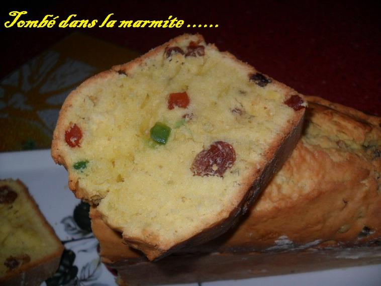 "Cake aux fruits confis ""Version THERMOMIX """