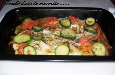 Filet de pangas aux petits légumes