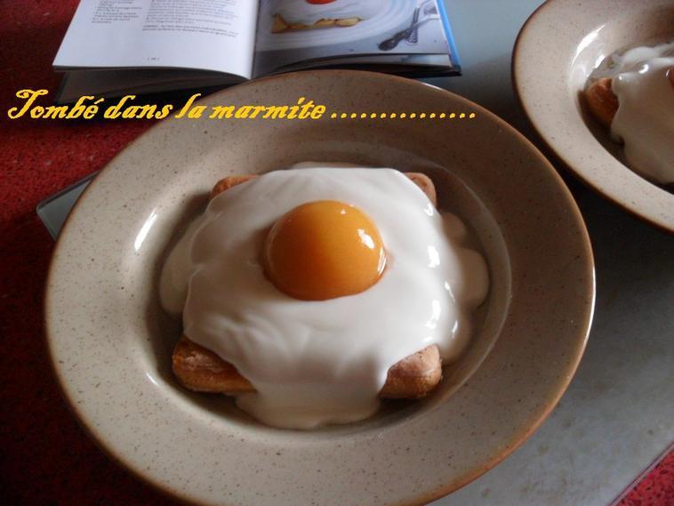 """"""" L'oeuf rigolo """" Dessert à l""""abricot"""