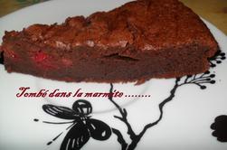 "Fondant chocolat et framboises ""de quand Nad Cuisine"""
