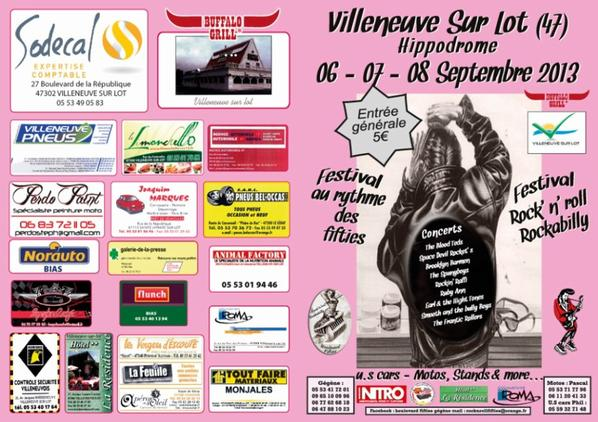 Le festival de Nicole n'est plus Boulevard Fifties le déplace à Villeneuve sur Lot (47).