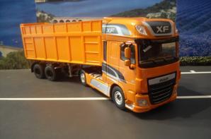 DAF XF 106 460 SUPER SPACE CAB EURO 6 ET SEMI BENNE CEREALIERE
