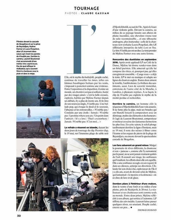 PHOTOS ,NOUVEAU CLIP DE MYLENE AVEC LA CHANTEUSE LP^^