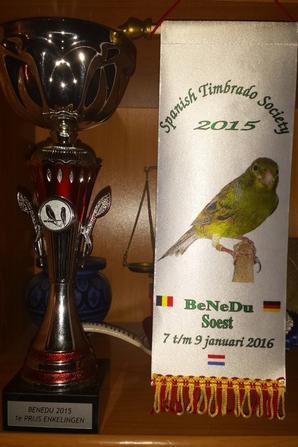 """Concour de canaris de chant TIMBRADO """" BENEDU 2015 """""""