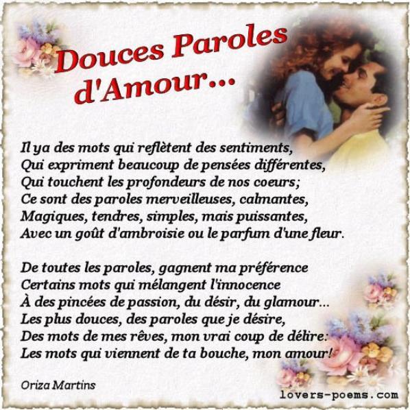 parole amour douce