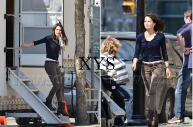 Kristin Kreuk on the set of Beauty and the Beast, the 22sd March.