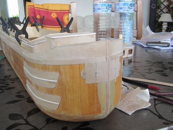 les fargues avant en cours de fabrication