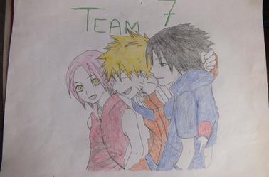 Voici des dessins du manga Naruto avec ses amis