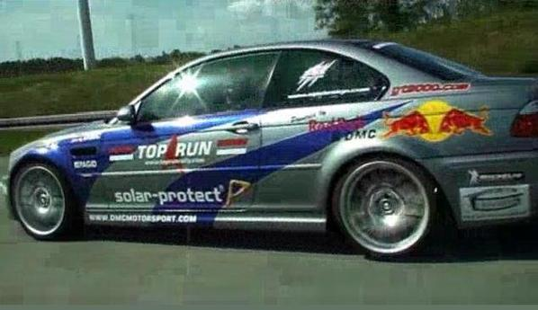 essai bmw M3 gtr red bull racing