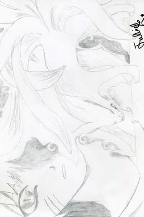 Une autruche et Naruto