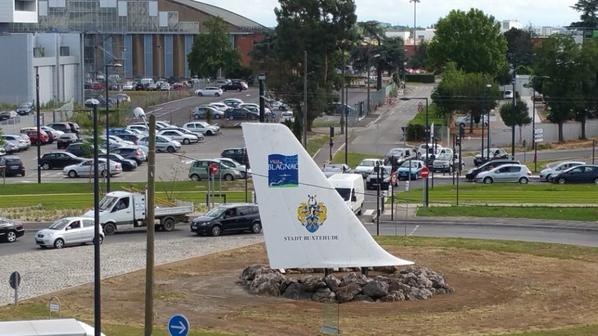 Toulouse 20 juin L'hôtel (Blagnac)et la vue de L'hotel