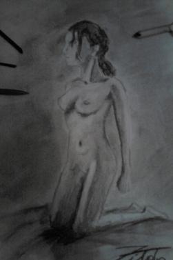 femme fusain
