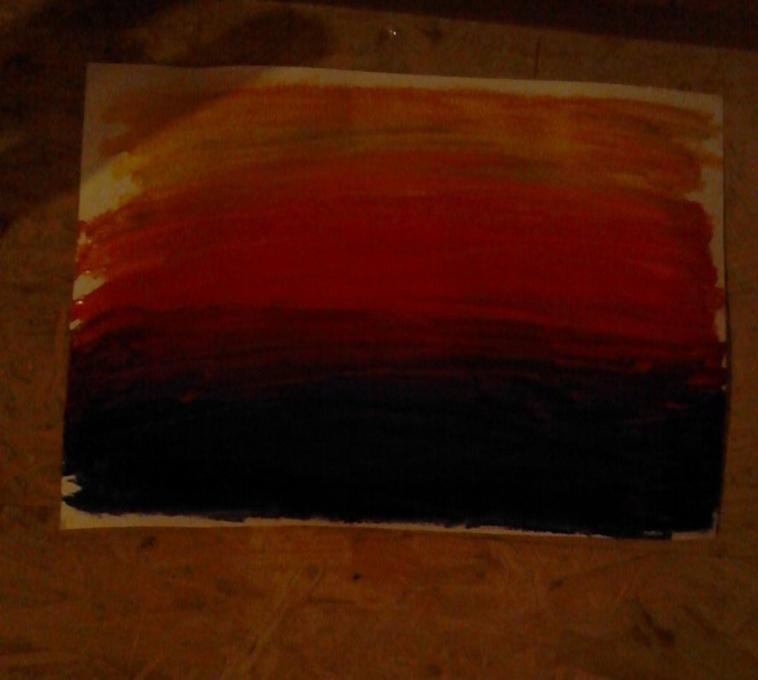 peinture en cour