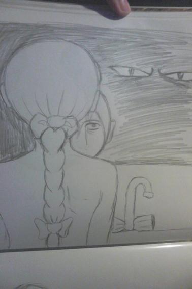 petit dessin au porte mine pour me passer le temps