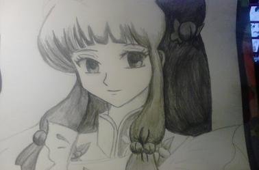 un personnage de ranma 1/2 fait au crayon gris ^^