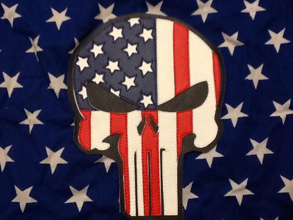 Crâne les couleur de l'Amérique