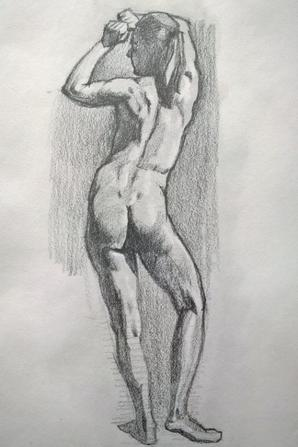 dessin stilo bille fusain crayon pastel