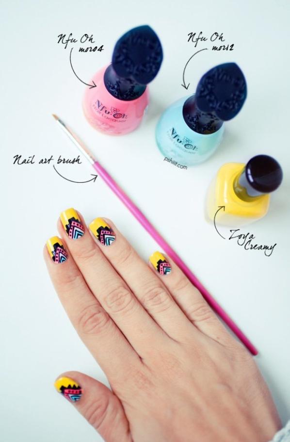 (Tuto Nail art) Des ongles ensoleillés, s'il vous plaît !