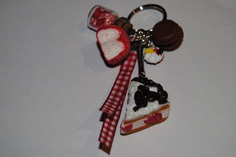 Porte clé gourmandise à la fraise ♥