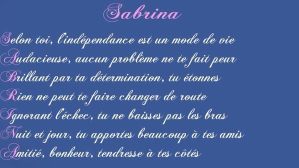 pour tout les Sabrina & Sébastien