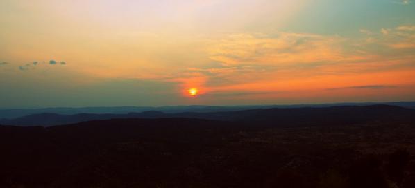 Couché de soleil sur l'Hérault