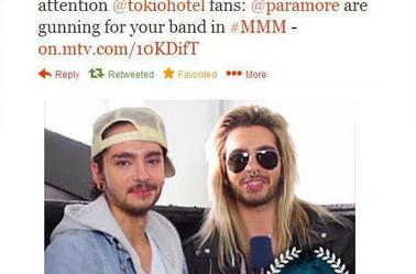 Paramore are gunning for TOKIO HOTEL :D hahaha BRING IT ON BIIIT**S