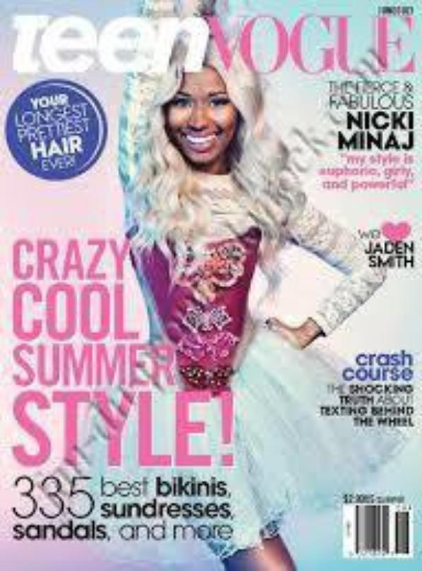 "Nicki Minaj popse pour le magasine ""Teen Vogue"""