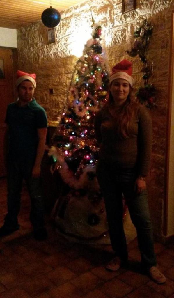 Photo après avoir fait le sapin de Noël :)