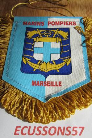 FANION MARINS POMPIERS DE MARSEILLE (RECTO-VERSO )