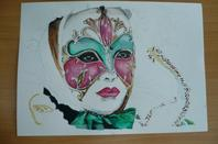 1ER dessin (aquarelle masque de venise)