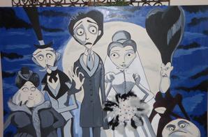 Déco mariage sur le thème des noces funèbres