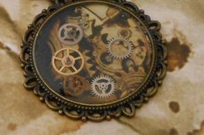collier camée steampunk