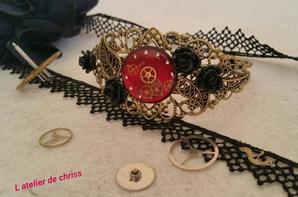 bijoux steampunk en résine