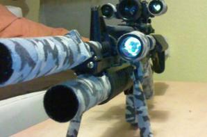 le voici suréquipé en anti-snipe