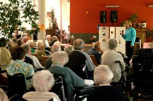 Max Wevan sings for the elderly in August 2011