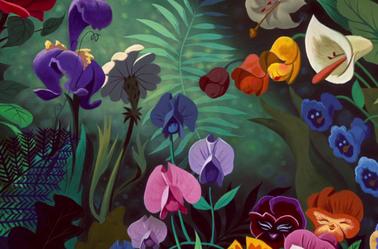 Png Le Dodo Bill Le Lezard Les Fleurs Alice Au Pays Des