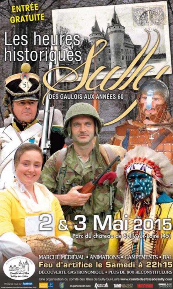 Les heures historiques de Sully Sur Loire les 2 et 3 Mai 2015