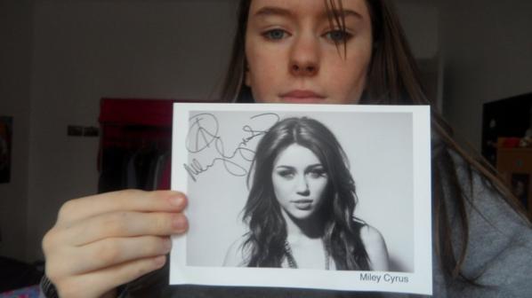 Autographe Miley Cyrus